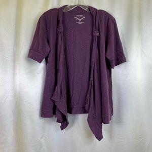 Sonoma Short Sleeve Cardigan Purple Large 🚨2/$20